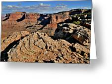 Shafer Canyon In Canyonlands Np Greeting Card