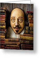 Shakespeare With Old Books Greeting Card