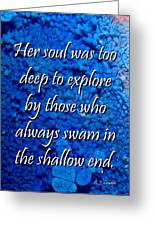 Shallow End Greeting Card