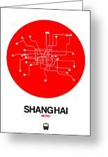 Shanghai Red Subway Map Greeting Card