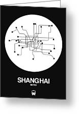 Shanghai White Subway Map Greeting Card