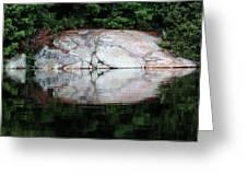 Shawanaga Rock And Reflections Iv Greeting Card