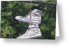 Shoefiti 72793dp Greeting Card by Brian Gryphon