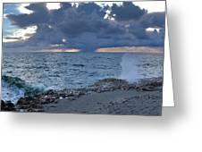 Shoreline Rain Clouds Greeting Card