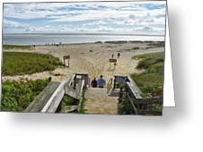 Shoreline Staircase By Uscg Station Chatham Cape Cod Massachusetts Greeting Card
