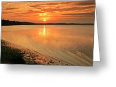 Shoreline Sunset Greeting Card