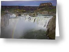 Shoshone Falls Rainbow Greeting Card