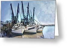 Shrimp Boats At Darien Greeting Card