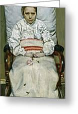 Sick Girl, 1881 Greeting Card