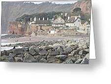Sidmouth Sea Front Greeting Card