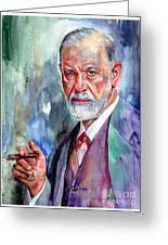 Sigmund Freud Portrait II Greeting Card