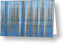 Silver Blue Plaid Abstract #4 Greeting Card by Patti Deters