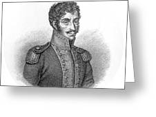 Simon Bolivar Venezuelan Statesman, Soldier, And Revolutionary Leader Greeting Card