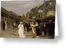 Sixth Avenue And Thirtieth Street, New York City, 1907 Greeting Card