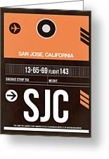 Sjc San Jose Luggage Tag II Greeting Card