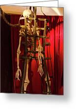 Skeleton  In Torturedevise Greeting Card