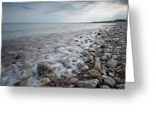 Sky And Beautiful Wavy Ocean Greeting Card by Michalakis Ppalis