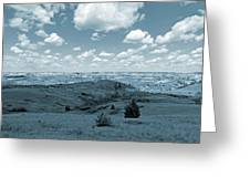 Sky And Prairie Dance Greeting Card