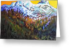 Sky Pilot And Co-pilot Peaks, Coastal Range, South Of Squamish, British Columbia Greeting Card