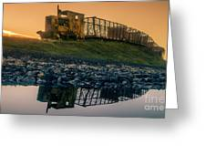 Sky Train Reflection Greeting Card