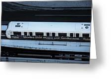 Skytrain Wagon  Greeting Card by Juan Contreras