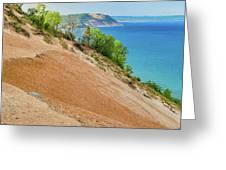 Sleeping Bear Dunes Lakeshore Michigan Greeting Card by Dan Sproul