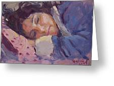 Sleeping Lady Greeting Card