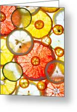 Sliced Citrus Fruits Background Greeting Card