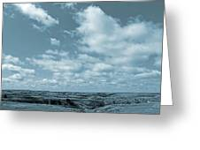 Slope County And Sky Greeting Card