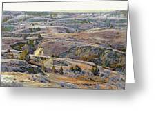 Slope County Badlands Reverie Greeting Card