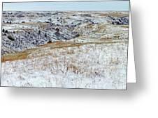 Slope County Snowfall Greeting Card