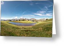 Small Lake In The Mountains Greeting Card