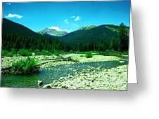 Small Stream Foreground The Rockies Greeting Card