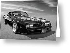 Smokey And The Bandit Trans Am In Mono Greeting Card