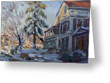 Snow In Town Greeting Card