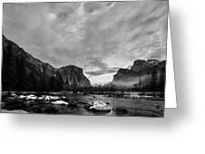 Snow In Yosemite Valley II Greeting Card