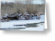 Snowy Graveyard Greeting Card