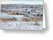 Snowy Slope County Greeting Card