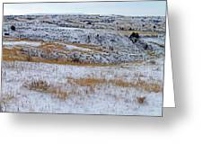 Snowy Slope County Territory Greeting Card
