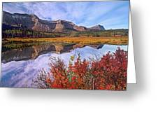 Sofa Mountain Reflecteion, Waterton Greeting Card
