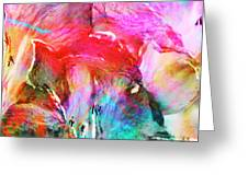 Somebody's Smiling - Custom Version 2 - Abstract Art Greeting Card by Jaison Cianelli