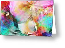 Somebody's Smiling - Custom Version 3 - Abstract Art Greeting Card by Jaison Cianelli