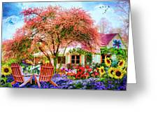 Something Country Colors Greeting Card by Debra and Dave Vanderlaan