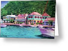 Soper's Hole Tortola  16x23 Greeting Card