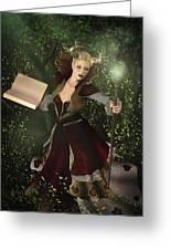 Sorceress And Magic Greeting Card