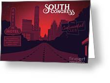 South Congress Avenue Greeting Card