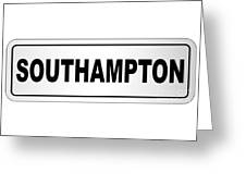 Southampton City Nameplate Greeting Card