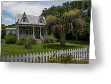 Southern Coastal Tin Roof Cottage Greeting Card