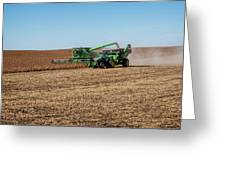 Soybeans Harvest Greeting Card
