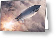 Spacex Bfr Epic Launch Greeting Card